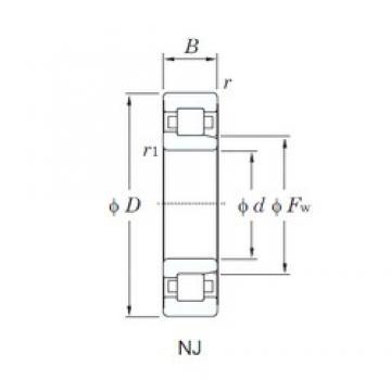 KOYO NJ338 cylindrical roller bearings